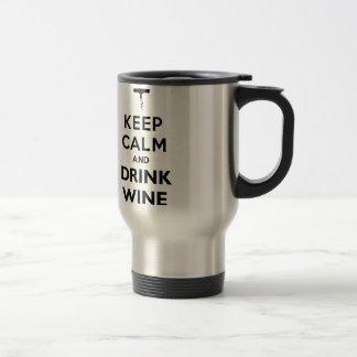 Mantenha vinho calmo e da bebida! caneca térmica