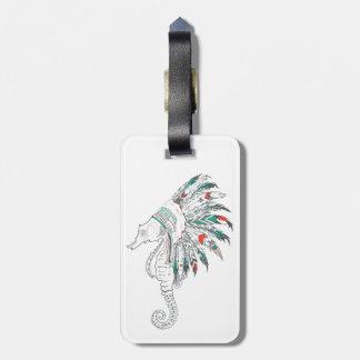 mantilha do cavalo marinho etiqueta de bagagem