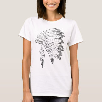Mantilha - ilustração do nativo americano camiseta