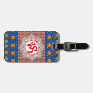 Mantra elegante de OmMANTRA: Meditação da ioga que Etiqueta De Bagagem