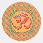 Mantra OmMantra: RobeColor santamente verdadeiro Adesivo
