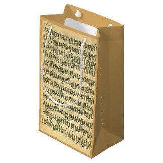 Manuscrito da música de Bach Chaconne para o Sacola Para Presentes Pequena