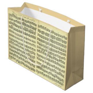 Manuscrito da música de Bach Partita para o Sacola Para Presentes Grande