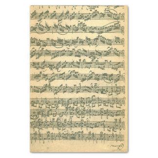 Manuscrito de Bach Chaconne para o violino de solo Papel De Seda