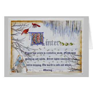 Manuscrito do inverno cartoes