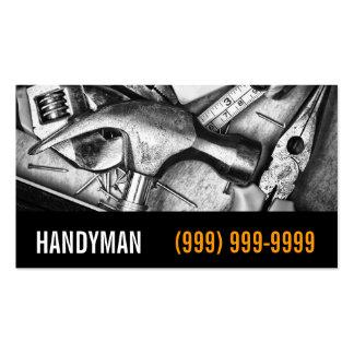 Manutenção, construção, cartão de visita do trabal