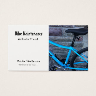 Manutenção da bicicleta cartão de visitas