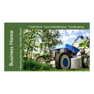 Manutenção do gramado e modelo dos serviços cartão de visita