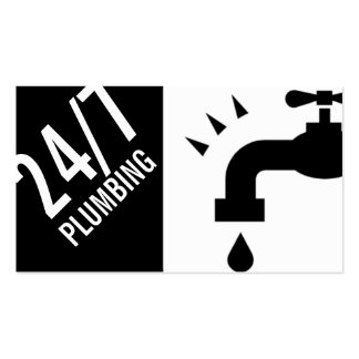 Manutenção do trabalhador manual da água do cartão de visita