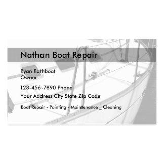Manutenção e reparo do barco cartão de visita