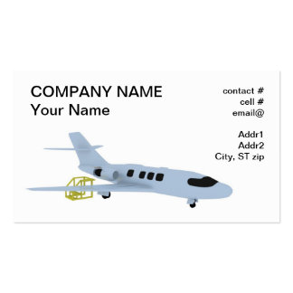 manutenção executiva do jato cartão de visita