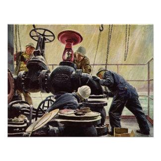 Manutenção marítima do vintage marinheiros no nav convites personalizados