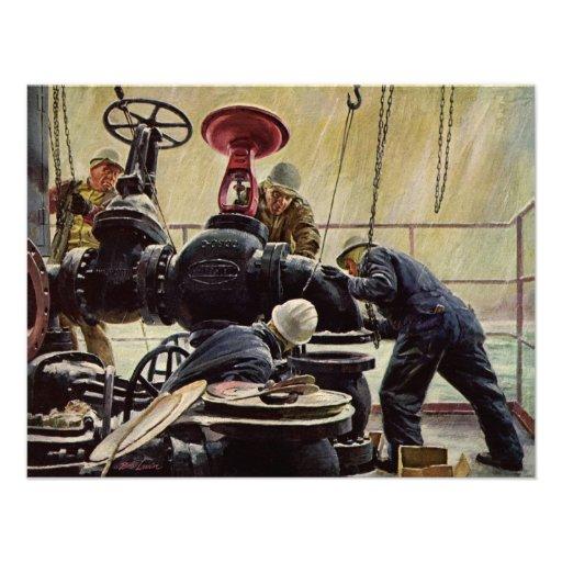 Manutenção marítima do vintage, marinheiros no nav convites personalizados