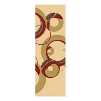 Manutenção programada. Marcador moderno das bolhas Cartão De Visita Skinny