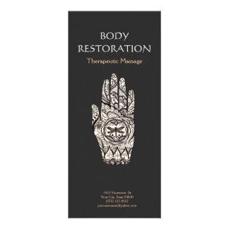 Mão 4 do tatuagem da libélula do Henna do 10.16 X 22.86cm Panfleto