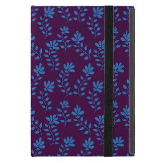 Mão azul teste padrão tirado do ramo da flor no capas iPad mini