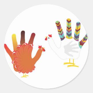 Mão Chicken3 do Grunge Adesivo