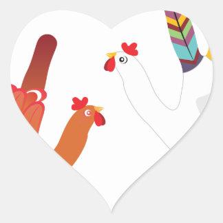 Mão Chicken3 do Grunge Adesivo Coração