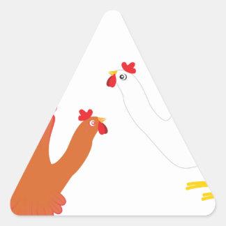 Mão Chicken3 do Grunge Adesivo Triangular