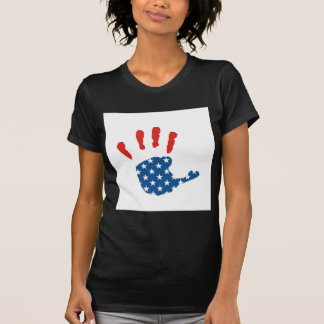 MÃO da bandeira dos EUA T-shirts
