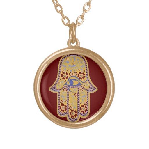 Mão da colar do hamsa de Fatima