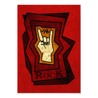 Mão da rocha convite personalizados