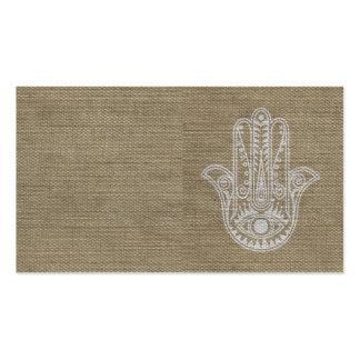 Mão de HAMSA do amuleto do símbolo de Fatima Modelos Cartao De Visita