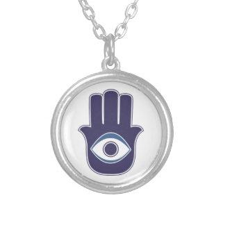 Mão de Hamsa/Khamsa de Fatima/de amuleto/sorte de  Colar Com Pendente Redondo