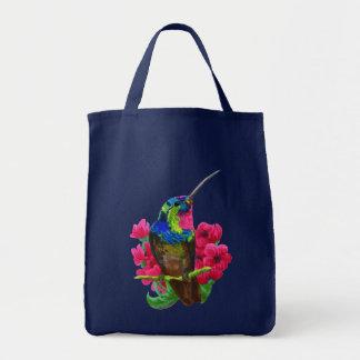 Mão do colibri que tira a ilustração brilhante. bolsa tote
