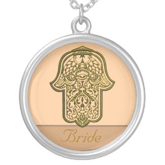 Mão do Henna de Hamsa ouro casamento Bijuteria