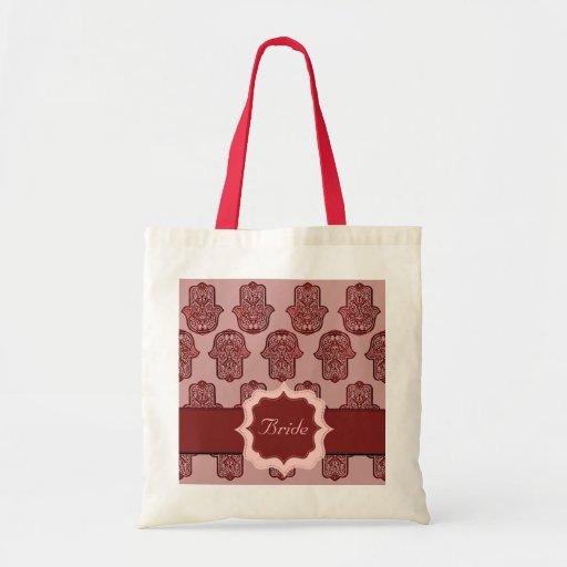 Bolsa De Mao Para Casamento : M?o do henna de hamsa vermelho casamento bolsas