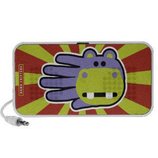 Mão do hipopótamo caixinhas de som para mini