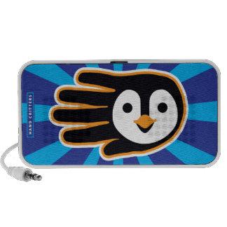 Mão do pinguim do vôo caixinhas de som portátil