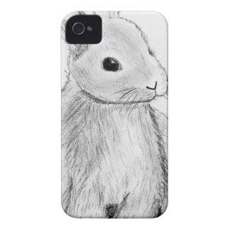 Mão original coelho tirado capas para iPhone 4 Case-Mate