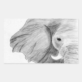 Mão original etiqueta tirada do elefante do carvão