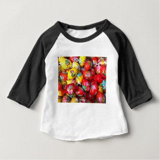 Mão-pintar-Páscoa-ovos Camiseta Para Bebê