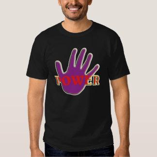 Mão roxa. Símbolo para o poder alegre T-shirt