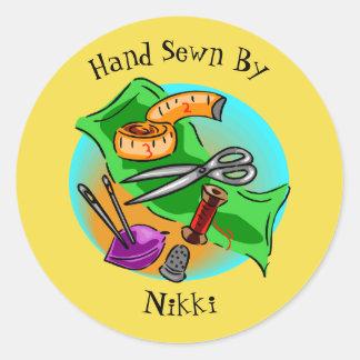 Mão Sewn por etiquetas