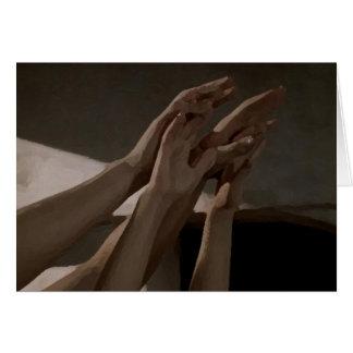 Mãos Cartão Comemorativo