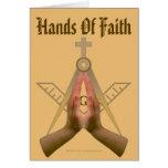 Mãos da fé. Versão cristã Cartao
