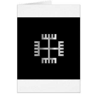 Mãos do deus, um símbolo de Neopaganism polonês Cartão Comemorativo