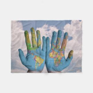 Mãos do mundo cobertor de lã