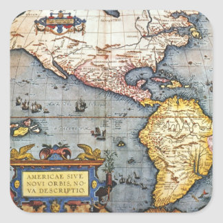 Mapa 1587 dos Americas Adesivos