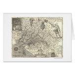 Mapa 1624 de Virgínia John Smith Cartão Comemorativo