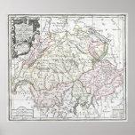Mapa 1764 de Suisse do La Impressão