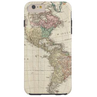 Mapa 1796 de Mannert do norte e da Ámérica do Sul Capas iPhone 6 Plus Tough