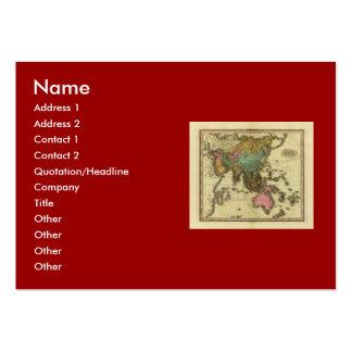 Mapa 1825 de Ásia pelo curtidor de Henry Modelo Cartao De Visita
