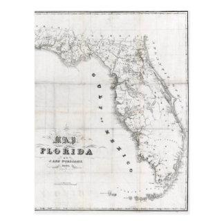 Mapa 1837 de Florida Cartão Postal