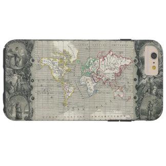 Mapa 1847 de Levasseur do vencedor do Planisphere Capas iPhone 6 Plus Tough
