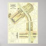 Mapa 1900 da expo de Paris Pôsteres